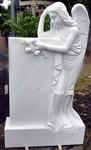 Grabstein aus Marmor mit Engel